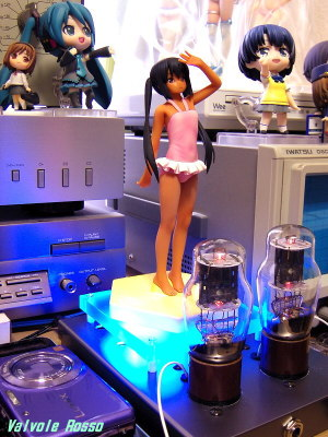EL32/1626(12A6GT/12V6GT) Mu Follower Hybrid Headphone Amplifier (Tube Headphone Amplifier) Ver.08 WAVE BEACH QUEENS 1/10 Scale Pre-painted PVC Figure K-On! Azusa Nakano Swimsuit Suntan Version