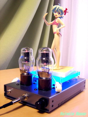 EL32/1626(12A6GT/12V6GT) Mu Follower Hybrid Headphone Amplifier (Tube Headphone Amplifier) Ver.08 WAVE 1/8 scale PVC Figure Gurren Lagann Nia Swimsuit Ver.