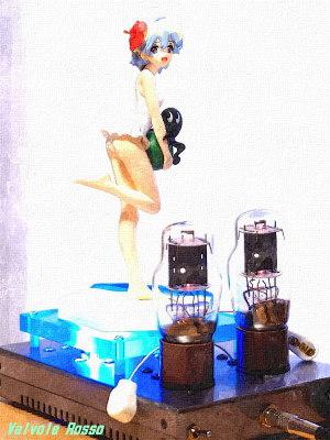 FotoSketcher WATER PAINTING EL32/1626(12A6GT/12V6GT) Mu Follower Hybrid Headphone Amplifier (Tube Headphone Amplifier) Ver.08 SEGA EX Summer Beach prize Figure Gurren Lagann Nia