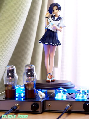 1626 Mu Follower Hybrid Headphone Amplifier & RC5B Hybrid Headphone Amplifier (Tube Headphone Amplifier) Clayz 1/6 scale PVC figure Loveplus PLUS Rinko Kobayakawa LC