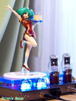 RC5B Hybrid Headphone Amplifier & 1626 Mu Follower Hybrid Headphone Amplifier (Tube Headphone Amplifier) Megahouse Excellent Model 1/8 scale PVC Figure Macross Frontier Ranka Lee Nyan-Nyan Ver. CZ
