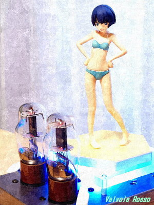 FotoSketcher OIL PAINTING 1626 Mu Follower Hybrid Headphone Amplifier (Tube Headphone Amplifier) WAVE BEACH QUEENS 1/10 Scale PVC Figure Waiting in the Summer Kanna Tanigawa