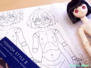 吉田式II 球体関節人形 制作指導書 と デッサン、設計図の話題は次回書きます!