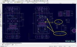 CADによるPCL86真空管ハイブリッドアンプのシャーシレイアウトの検討