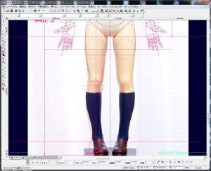 脚の長さを20%短く調整した写真をCADにテンプレートで読み込んで、その脚に合うようにボディを新しく設計してみた。
