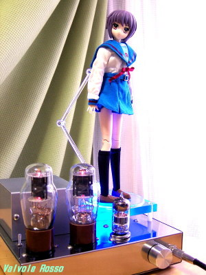 6DJ8-1626 Single Ended Amplifier (Tube Headphone Amplifier) Megahouse x Obitsu 25cm Action Figure Collection+  Melancholy Haruhi Suzumiya : Yuki Nagato Magician Version [ photo : Panasonic DMC-F7 ]