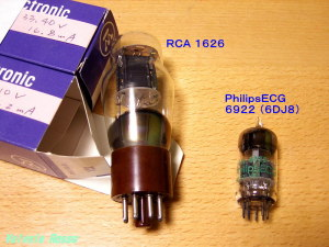 Tube RCA1626 & PhilipsECG 6922(6DJ8)