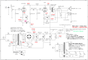 6DJ8-1626 Single Ended Amplifier (Tube Headphone Amplifier) schematic