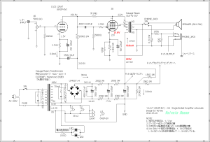 12AX7(6N2P-EV)-38 Single Ended Amplifier (Tube Headphone Amplifier) schematic
