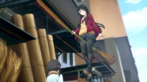 ふらいんぐうぃっち 木幡真琴 女子高生の黒ストッキングが眩しいデス。