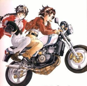 (C)藤島康介 逮捕しちゃうぞ YAMAHA RZ250 辻本夏実仕様 ユーゾーのクロスチャンバー がとても眩しいです。