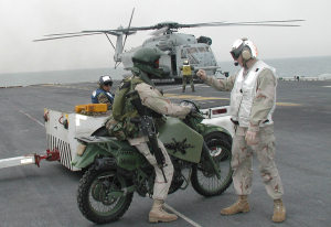 M1030M1 Military Motorcycles (Kawasaki KLR650 modified for military use by Hayes Diversified Technologies.)