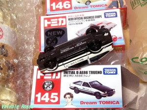 トミカ 頭文字D AE86トレノ 現在、車体裏の刻印は、プリント表記の様です。