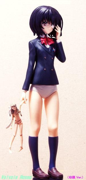 SEGAプライズ PMフィギュア Another : 見崎鳴 フォトショップで首の長さを短くして、頭部の形状を丸顔にしてみた。( 幼顔 Ver. )