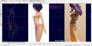 球体関節人形デッサン~ アルター Fate/hollow ataraxia 間桐桜 を参考にして基準モデルを美乳にする?