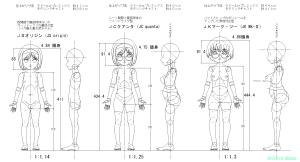 球体関節人形デッサン~ JCオリジン/JCクアンタ/JKマーク・ツー 各モデル設計図