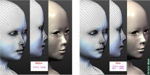 球体関節人形デッサン~ MakeHuman 1.1.1 アジア人65%白人35%くらいにして、顔の彫りを若干深くしてみた。