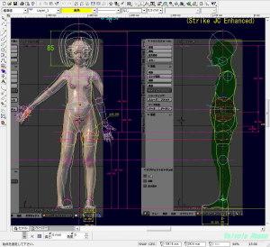 球体関節人形デッサン~ Blenderで関節位置を検討した下絵をCADに読み込みんで、「かんたんBlender講座」ボディ制作の実習のための設計図を作ります。