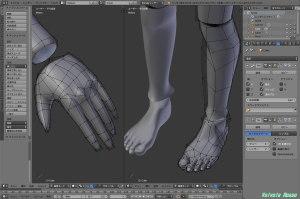 球体関節人形デッサン~ 「かんたんBlender講座」で「手」と「足」の制作。とりあえず「手」が完成すれば「足」はその応用で作れます。。。(汗