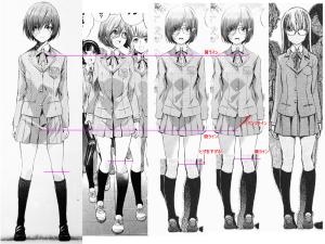 球体関節人形デッサン~ 「ヒメノスピア」園藤姫乃のパンツライン(股位置)とヒザ位置の検討