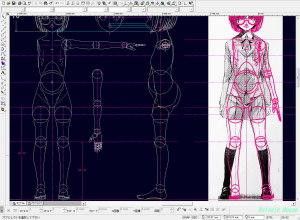 球体関節人形デッサン~ 「ヒメノスピア」園藤姫乃のボディは、ヒザ下の脛部分をちょびっと長くしました。