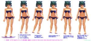 球体関節人形デッサン~ プニッと感&ややポチャ体型の研究ため、コトブキヤ 小野寺樺恋 フィギュアの写真を加工してみた。
