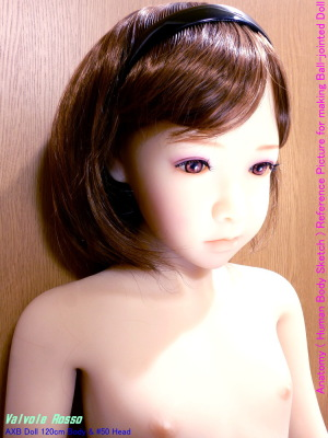 AXB Doll 120cm Body & #50 Head ヘッドのアップ。