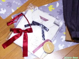 キャンドゥの12mm幅・赤リボンを流用した方が良いかと思ったけど、クリスマス・シーズンで赤リボンが全部売り切れ!