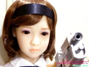 AXB Doll 120cm Body & #50 Head GUNSLINGER GIRL Henrietta Cosplay Ver. ドールアイをフォトショップで黒目にして、瞳の虹彩をあまり目立たないようにしてみた。