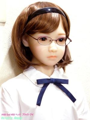 AXB Doll #50 Head & 120cm Body ドールアイをフォトショップで黒目にして、瞳の虹彩をあまり目立たないようにしてみた。