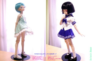 PARABOX 40cmボディ Aiちゃん彩色済ヘッド 「ドールアイ&ウィッグ&衣装の違いによる雰囲気の変化」
