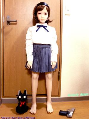 AXB Doll 120cm Body & #50 Head GUNSLINGER GIRL Henrietta Cosplay Ver. ALLAIBB プリーツスカート size 120 (グレー)