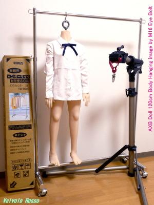 《閲覧注意》AXBドール・ボディをアイボルトで首から吊ってます。。。AXB Doll 120cm Body Hanging Image by M16 Eye Bolt