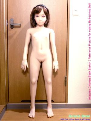 いちばん最初に AXB Doll 120cm ドールが配送されて組み立てた時、ドアに立てかけて自立させてたら、しっかりドアの表面にブリードのお尻の跡が付いていたよ!
