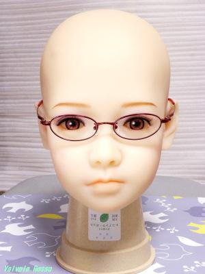 AXB Doll #50 Head Glasses 【キッズ用メガネ】 度なし メタルフレーム オーバル型 赤色 3,980円 (税込) 送料550円