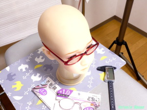 AXB Doll #50 Head Glasses キャンドゥの老眼鏡(赤色セル)