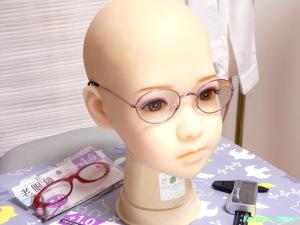 AXB Doll #50 Head Glasses キャンドゥの老眼鏡(紫色メタル)