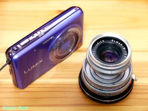LUMIX DMC-FX80 & LEICA Elmar M 50mm F2.8 ライカM-マイクロフォーサーズ マウントアダプター