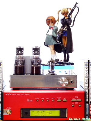Good Smile Company GUNSLINGER GIRL Henrietta & Triela DENON TU-5.5K チューナー 6DJ8-1626 Single Ended Amplifier (Tube Headphone Amplifier) Photo: Panasonic LUMIX DMC-GF5 LEICA Summicron M 50mm F2