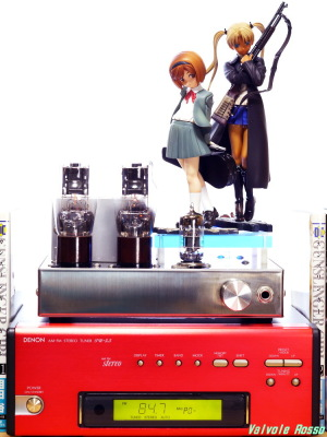 Good Smile Company GUNSLINGER GIRL Henrietta & Triela DENON TU-5.5K チューナー 6DJ8-1626 Single Ended Amplifier (Tube Headphone Amplifier) Photo: Panasonic LUMIX DMC-GF5 LEICA Elmar M 50mm F2.8