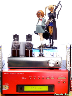 Good Smile Company GUNSLINGER GIRL Henrietta & Triela DENON TU-5.5K チューナー 6DJ8-1626 Single Ended Amplifier (Tube Headphone Amplifier) Photo: Panasonic LUMIX DMC-GF5 & G VARIO 14-45mm/F3.5-5.6 ASPH/MEGA O.I.S.