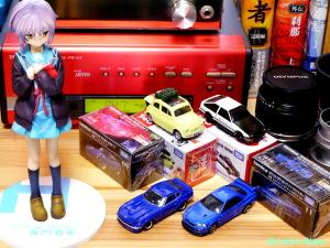 Max Factory The Melancholy of Haruhi Suzumiya: Yuki Nagato & TOMICA NISSAN FAIRLADY Z & SKYLINE GT-R V-SPEC2 Nur