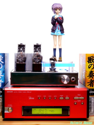 6DJ8-1626 Single Ended Amplifier & DENON TU-5.5K & Max Factory The Melancholy of Haruhi Suzumiya: Yuki Nagato Photo: Panasonic LUMIX DMC-GF5 & G VARIO 14-45mm/F3.5-5.6 ASPH/MEGA O.I.S.