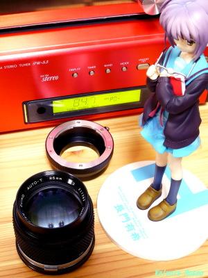 Max Factory The Melancholy of Haruhi Suzumiya: Yuki Nagato & OLYMPUS ZUIKO 85mm F2