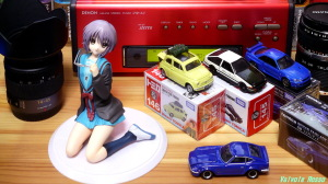 《1280x720 トリミング》 DMC-GF5/LUMIX LUMIX G 20/F1.7 ALTER The Melancholy of Haruhi Suzumiya: Yuki Nagato Uniform Ver. & Tomica Lupin the Third: The Castle of Cagliostro FIAT500 & Initial D: AE86 TRUENO &  NISSAN SKYLINE GT-R V-SPEC2 Nur & FAIRLADY Z