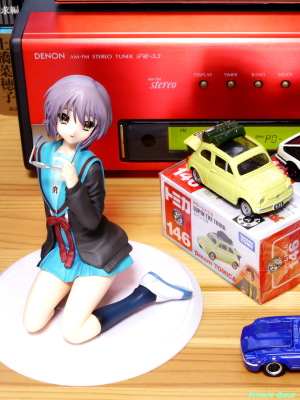 《1125x1500 トリミング》 DMC-GF5/LUMIX G VARIO 14-45/F3.5-5.6 ALTER The Melancholy of Haruhi Suzumiya: Yuki Nagato Uniform Ver. & Tomica Lupin the Third: The Castle of Cagliostro FIAT500