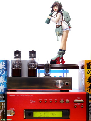 《1500x2000 フォトショップで調整》 Aoshima Kantai Collection: Kancolle: Yukikaze & 6DJ8-1626 Single Ended Amplifier & DENON TU-5.5 Tuner Photo: Panasonic LUMIX DMC-GF5 & G VARIO 14-45mm/F3.5-5.6 ASPH/MEGA O.I.S.