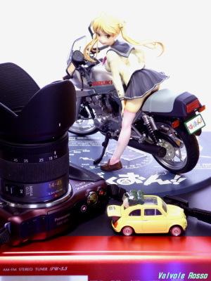 ばくおん!! 鈴乃木凜&GSX400Sカタナ と LUMIX DMC-GF5 & G VARIO 14-45mm/F3.5-5.6 ASPH/MEGA O.I.S. 撮影は、LUMIX DMC-FX80