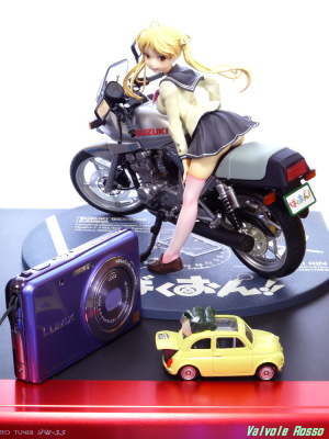 ばくおん!! 鈴乃木凜&GSX400Sカタナ と LUMIX DMC-FX80 撮影は、DMC-GF5 & G VARIO 14-45mm/F3.5-5.6 ASPH/MEGA O.I.S.