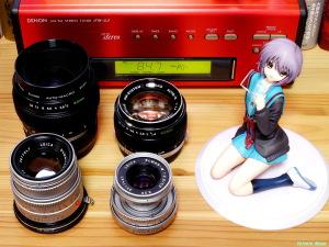 《2000x1500 フォトショップで調整》 LEICA Elmar M 50mm F2.8 & LEICA Summicron M 50mm F2 & OLYMPUS G.ZUIKO AUTO-S 50mm F1.4 & OLYMPUS ZUIKO AUTO-MACRO 50mm F2 & ALTER The Melancholy of Haruhi Suzumiya: Yuki Nagato Uniform Ver.